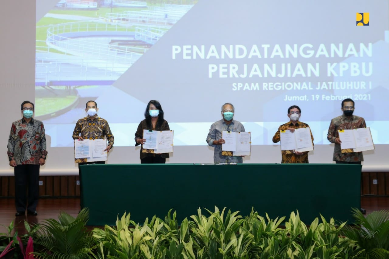 The Ministry of PUPR Signs the Cooperation Agreement for the Jatiluhur I Regional SPAM Project