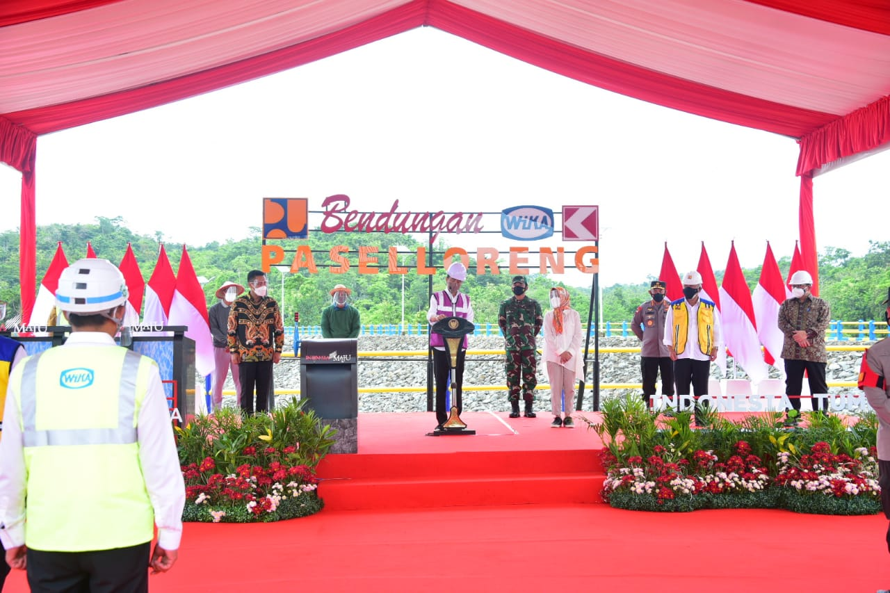 Inaugurating Paselloreng Dam, President Supports South Sulawesi as National Food Barn