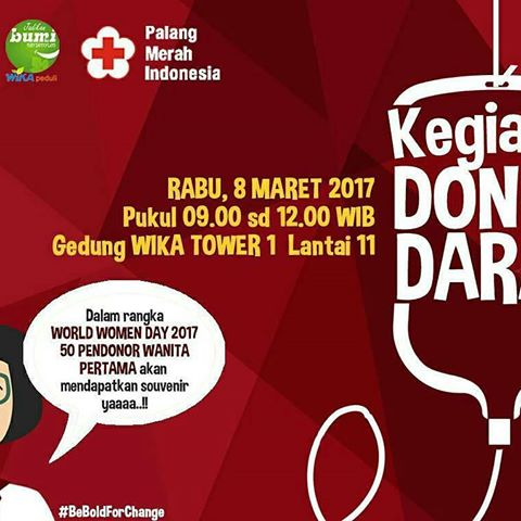 Hello, all Lets take time to donate our blood on Wednesday at 9 A.M at WIKA Tower 1