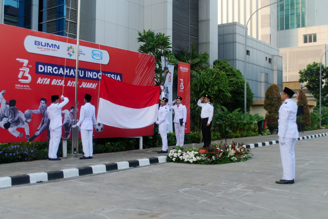 The 73rd Indonesian Anniversary Ceremony at WIKAs Head Office