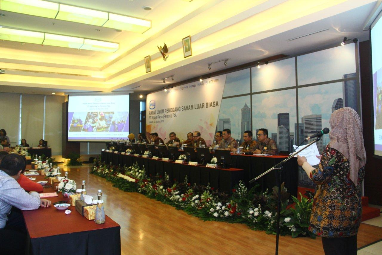 WIKA Succesfully Holds Extraordinary General Meeting of Shareholders 2016