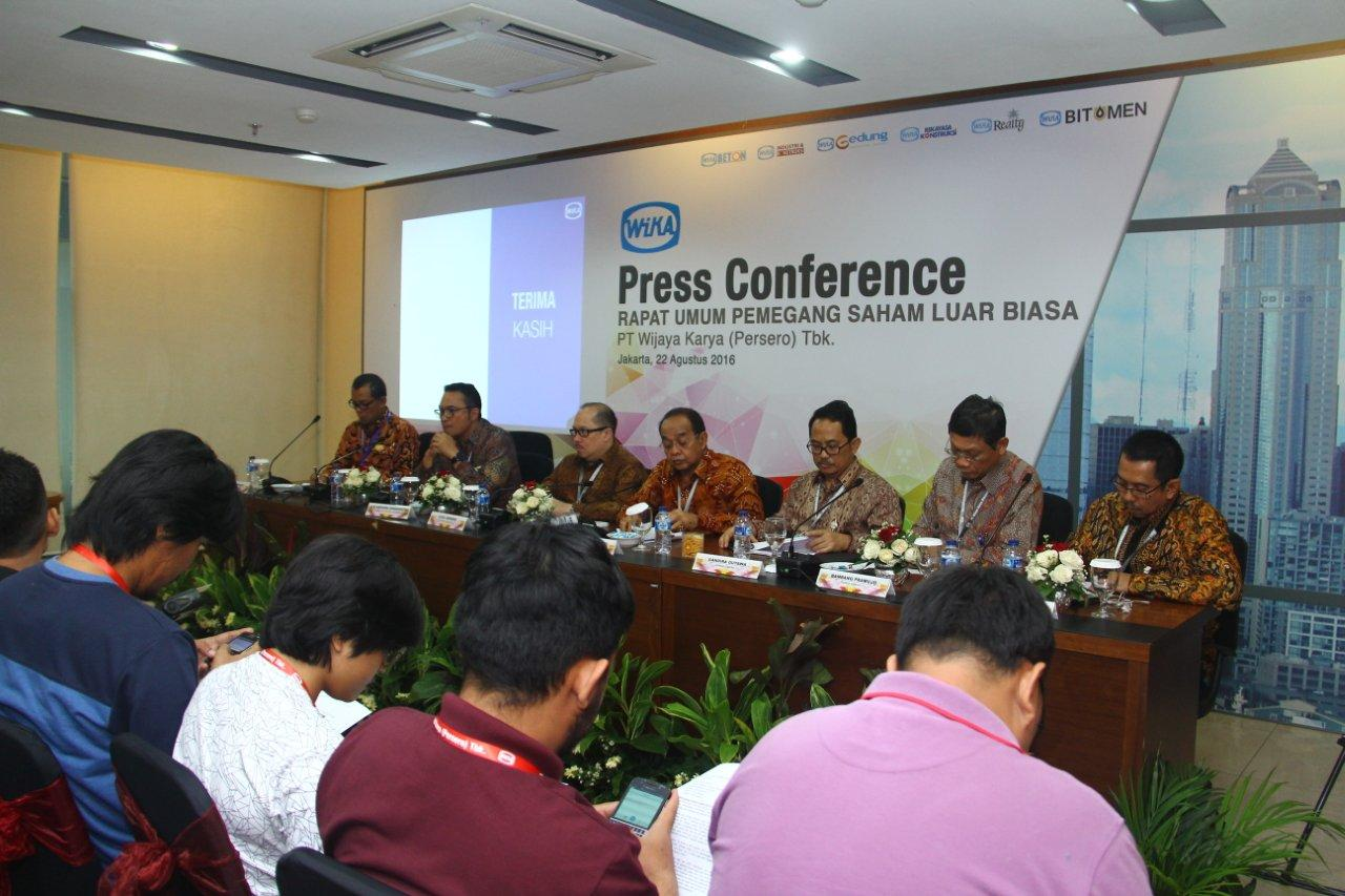 WIKA Holds Press Conference for Extraordinary General Meeting of Shareholders 2016