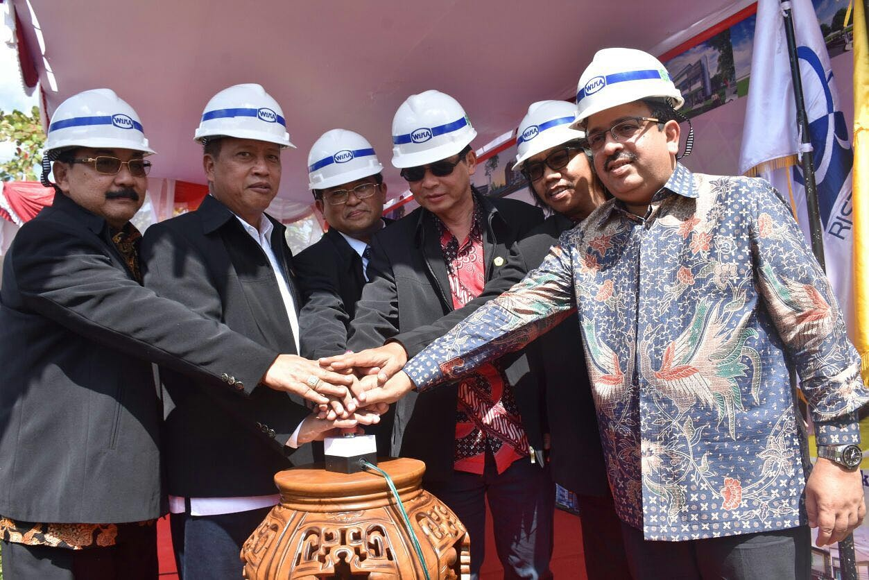 Groundbreaking of Lambung Mangkurat University – Banjarmasin, South Kalimantan