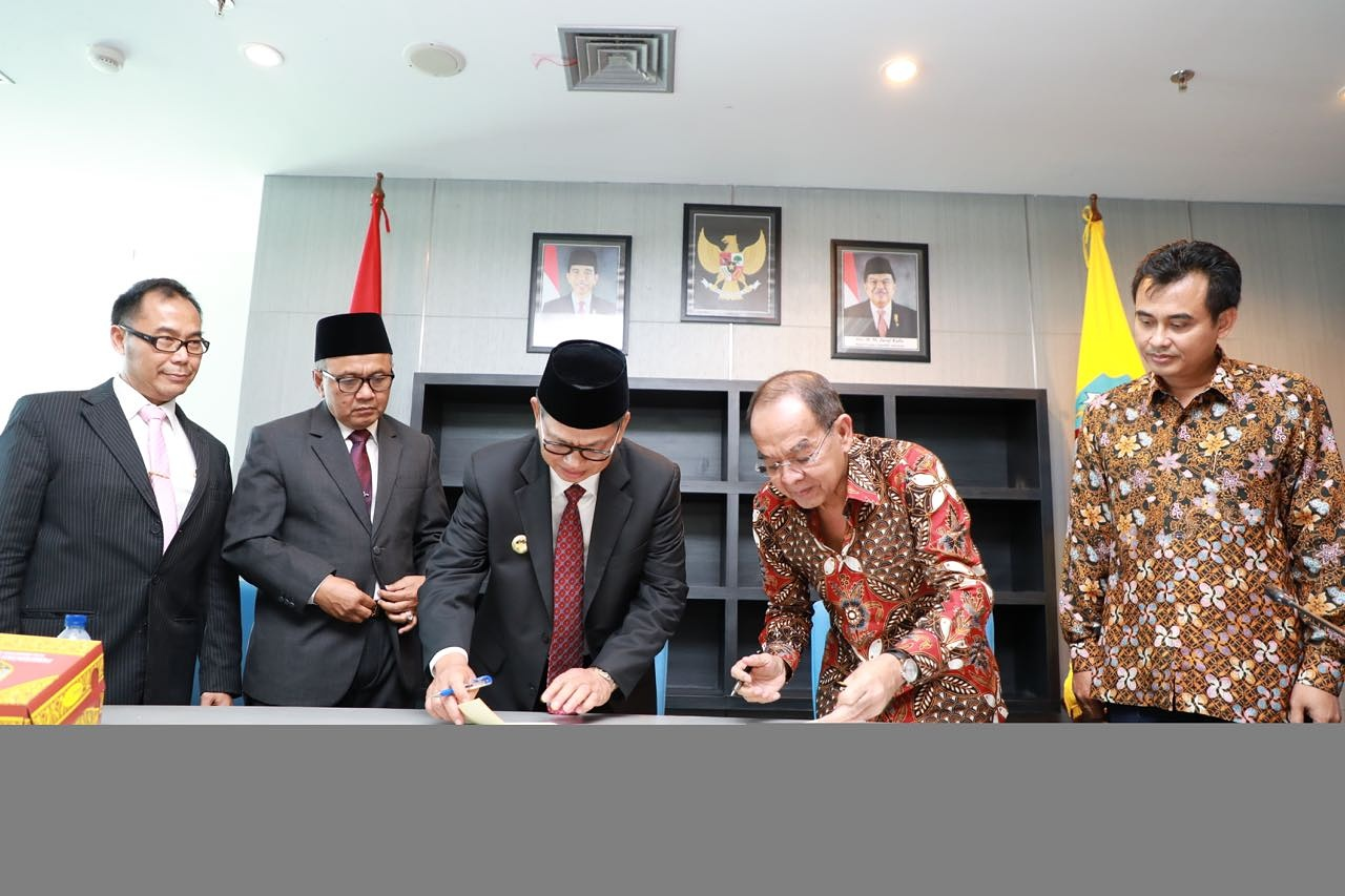 MOU of Construction and Economy and Infrastructure Region Development at North Borneo Province