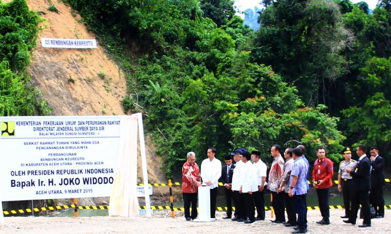 Jokowi and WIKA Conducts Groundbreaking, Aceh