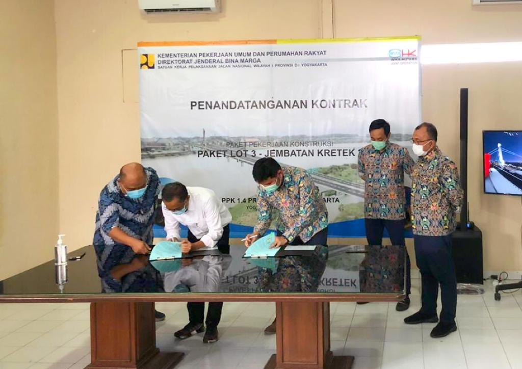 Ministry of PUPR Entrusts WIKA-HK JO to Work on Kretek Bridge 2
