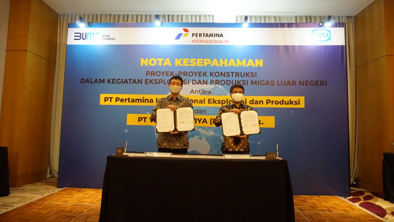 Pertamina International Exploration and Production with WIKA Signs MoU on Foreign Asset Construction