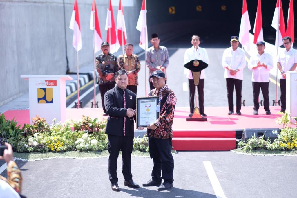 Inaugurated by President Jokowi, YIA Underpass Sets MURI Record