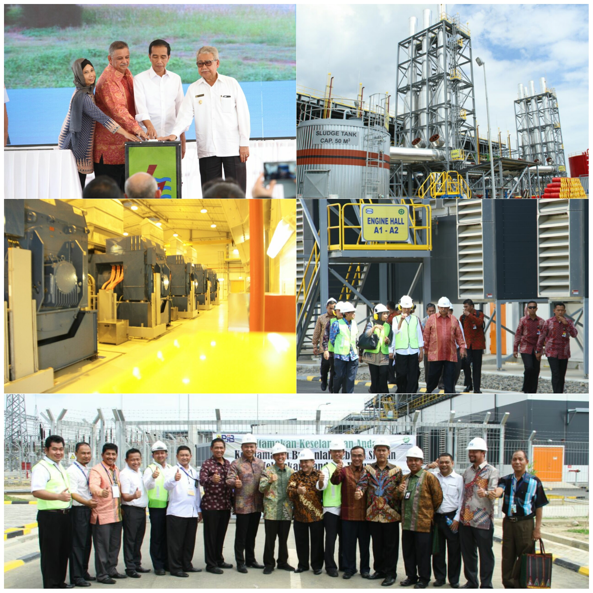 President Jokowi Inaugurates Gas Engine Power Plant 184 MW Arun Location