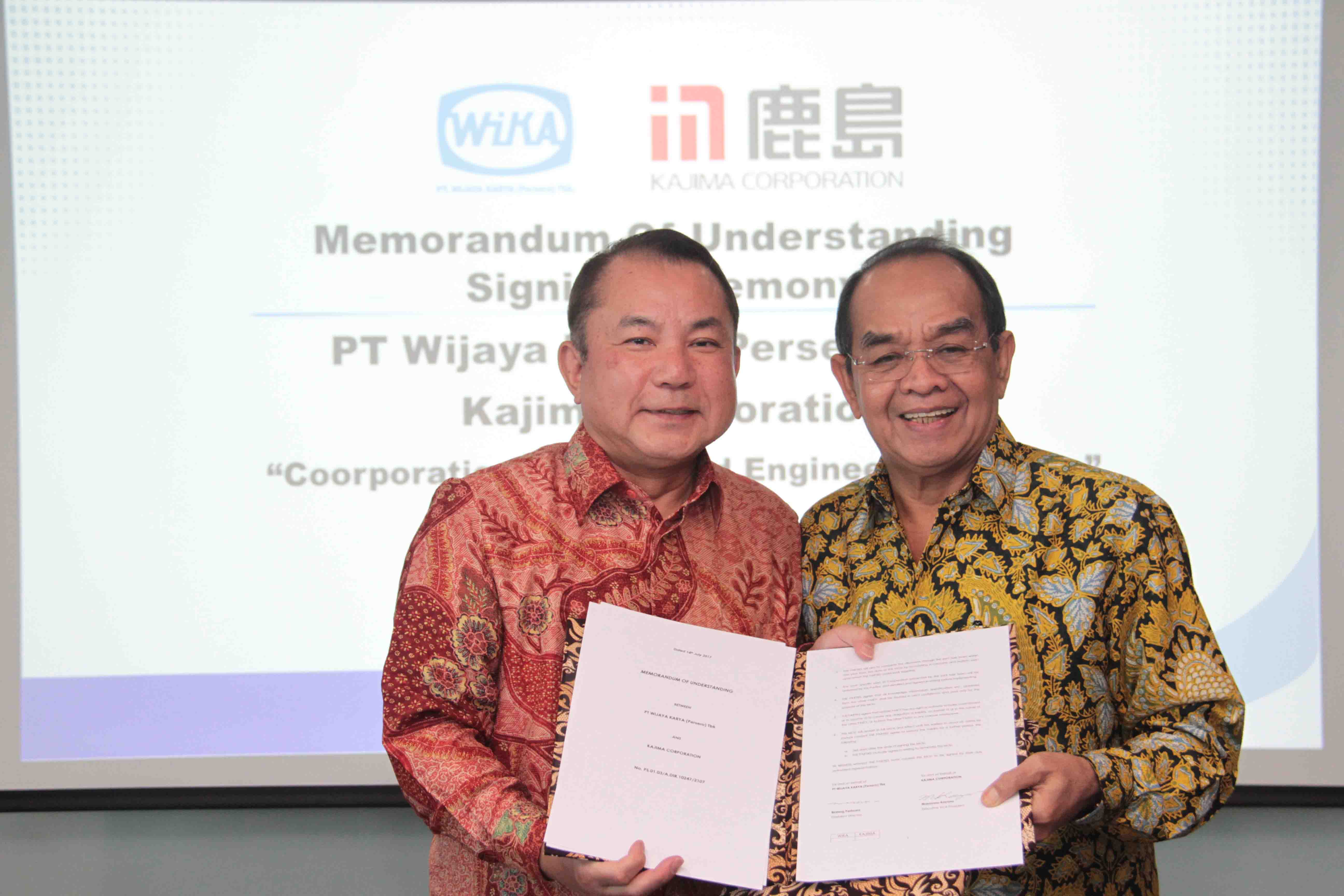 WIKA – Kajima Corporation Signed a MoU in the field of R&D