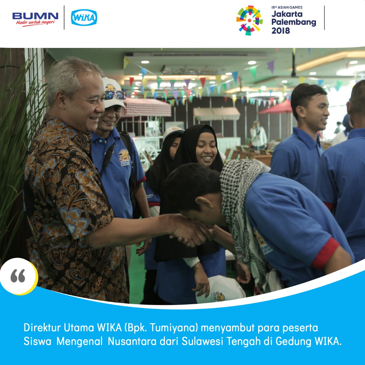 Synergy of WIKA-AirNav Indonesia-BKI with IPC officially launched Siswa Mengenal Nusantara Sulteng-B