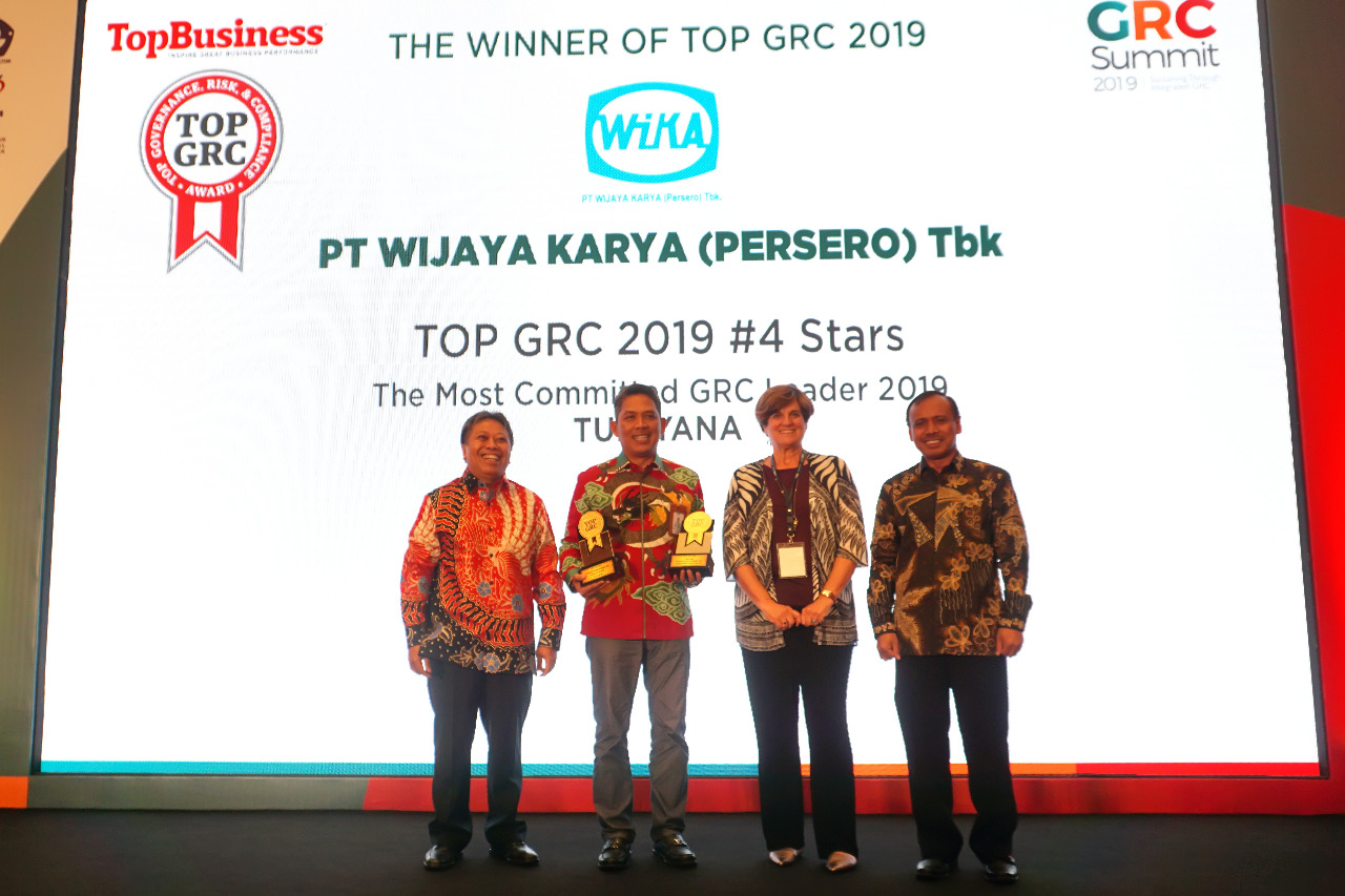 WIKA Won TOP GRC 2019  4 Stars and The Most Committed GRC Leader 2019 at the TOP GRC Awards Event