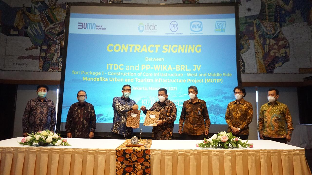 JV WIKA-PP BRL Signs the Mandalika Urban and Tourism Infrastructure Development Contract