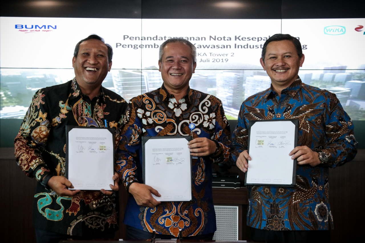 WIKA, PTPN VIII, and RNI, Establish Cooperation in the Development of Subang Industrial Zone